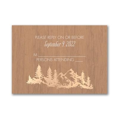 Wooden Wonder - Response Card and Envelope