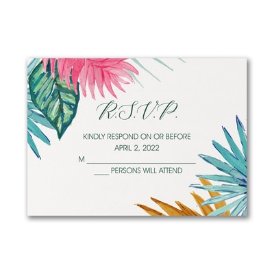 Tropical Treasures - Response Card and Envelope