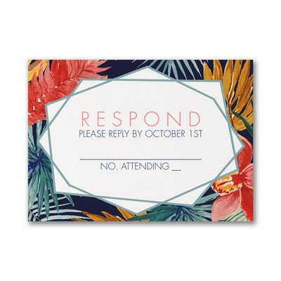 Fabulous Floral - Response Card and Envelope