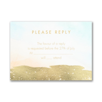 Ocean Meets Sand - Response Card and Envelope