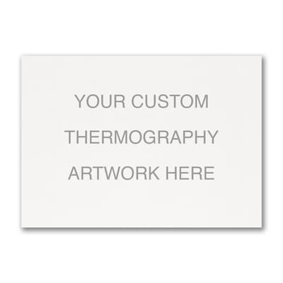 Large Sized Thermography Flat Card - Horizontal