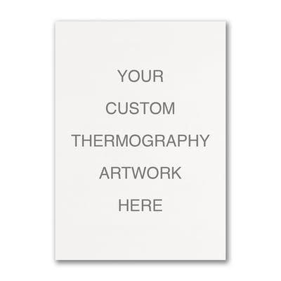 Large Sized Thermography Flat Card - Vertical