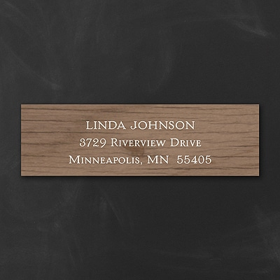 Wood Grain - Address Label