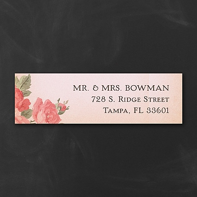 Dusty Rose - Address Label