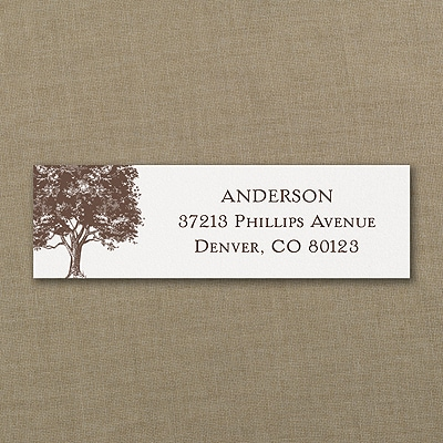 Leafy Tree - Address Label