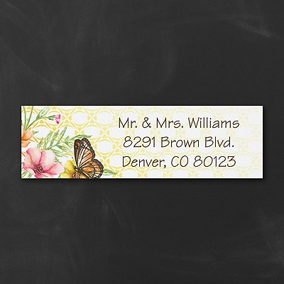 Sweet Butterfly - Address Label