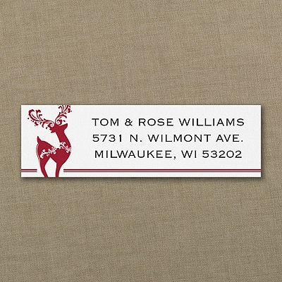 Elegant Reindeer - Address Label