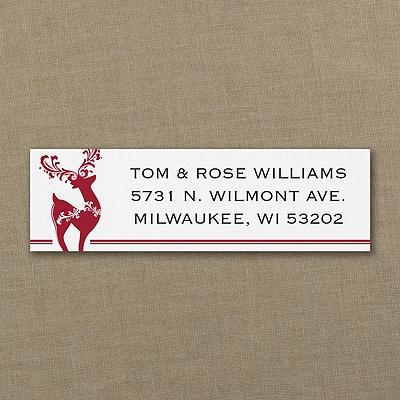 Elegant Reindeer - Address Label