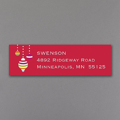 Festive Ornaments - Address Label