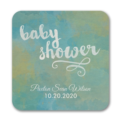 Artsy Shower - Coaster - Blue