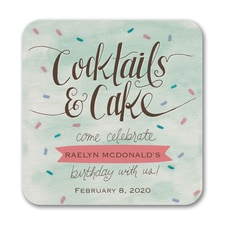 Cocktails and Cake - Coaster
