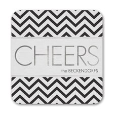Chevron Cheers - Coaster