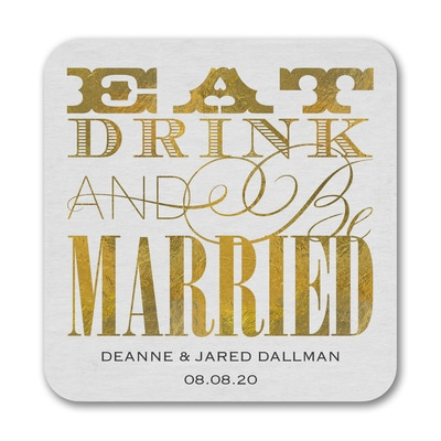 Eat Drink Married - Coaster