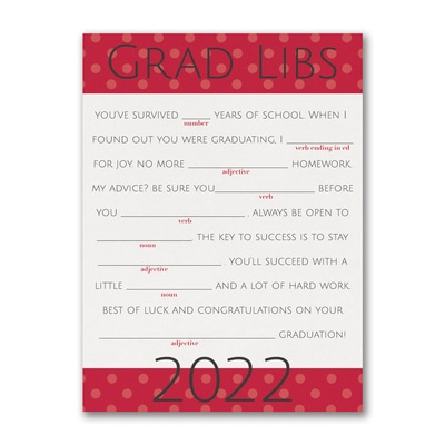 Dotted Fun Grad Libs