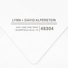 Double Lines Self-inking Address Stamp