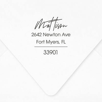 Single Line Self-inking Address Stamp
