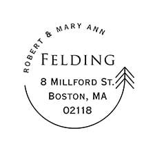 Arrow Frame Self-inking Address Stamp