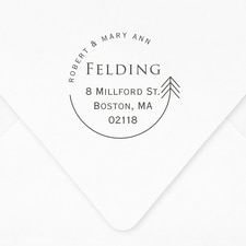 Arrow Frame Self-inking Address Stamp