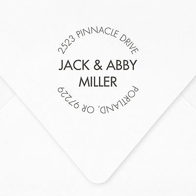 Centered Names Self-inking Address Stamp