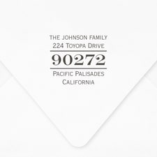 Zip Code Self-inking Address Stamp