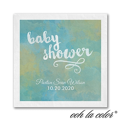 Artsy Shower - Napkin - Blue