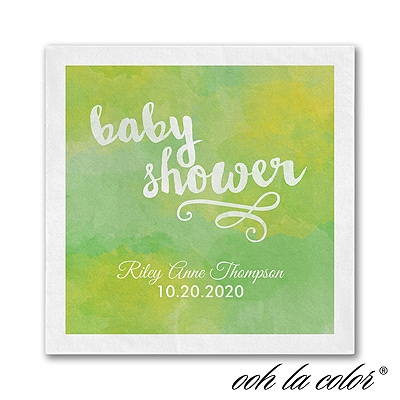 Artsy Shower - Napkin - Green