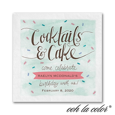 Cocktails and Cake - Napkin