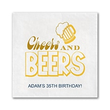 Beers and Cheers - Napkin