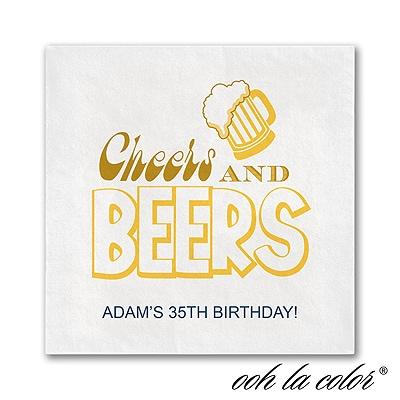 Beers and Cheers - Napkin