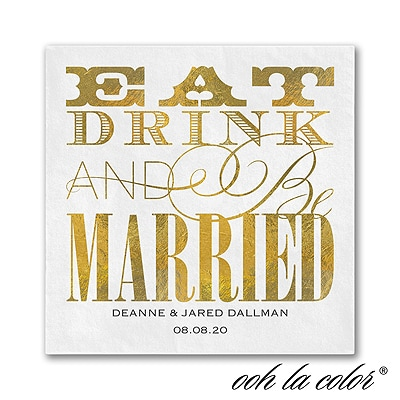 Eat Drink Married - Napkin