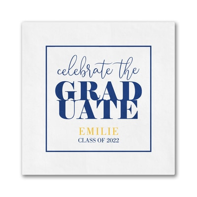 Celebrate Our Grad Digital Beverage Napkin