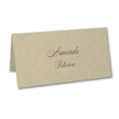 Kraft Place Card - Variable Print