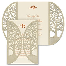 laser cut invitation: Enchanted Garden