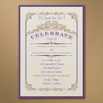 Wedding Day Grandeur - Layered Invitation