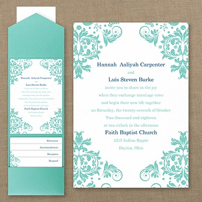 Vibrant Damask - Pocket Invitation