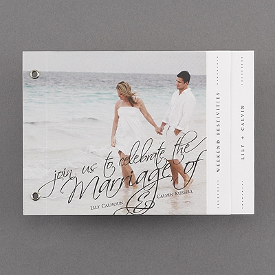 By The Book Photo Booklet Invitation Wedding Invitations Media
