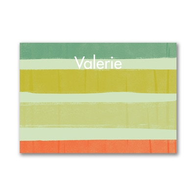 Stripes - Post It Note Set - Green