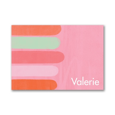 Stripes - Post It Note Set- Pink