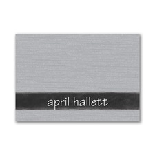 Grey Shade - Post It Note Set - Name