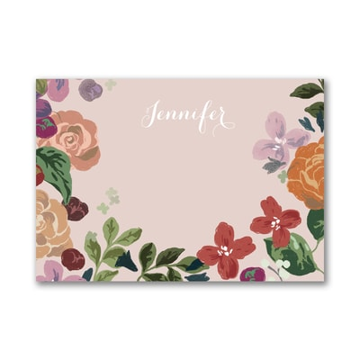 BoHo Flowers - Pink - Post It Note Set - Name