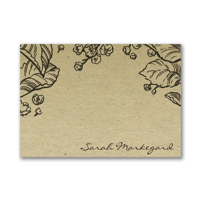 Earth Tones - Post it Note Set - Floral
