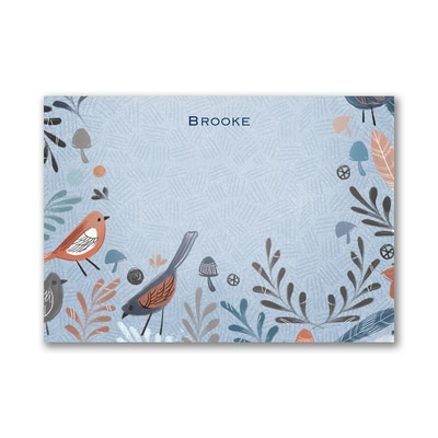 Birds of a Feather - Post It Note Set - Blue