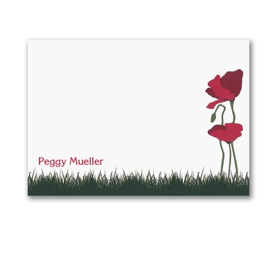 Poppies - Post It Note Set - Floral