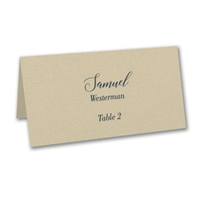 Ecru Shimmer Place Card - Variable Print