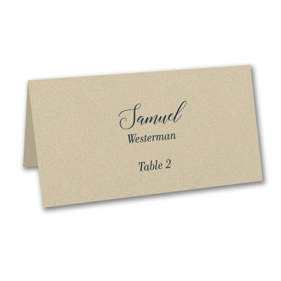 Gold Shimmer Place Card - Variable Print