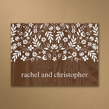 Woodland Flowers - Thank You Note - Mocha