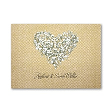 Burlap Blossoms - Thank You Note