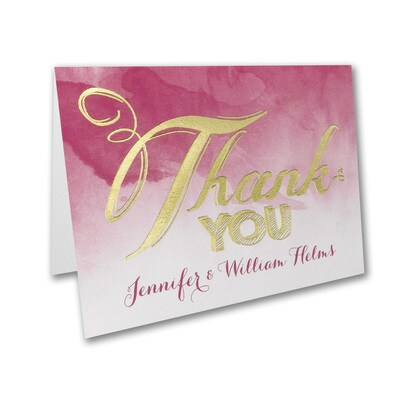 Wedding Watercolor - Thank You Note
