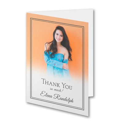 Ombre Gratitude - Photo Thank You Note