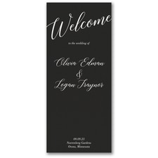 Wedding Welcome Program